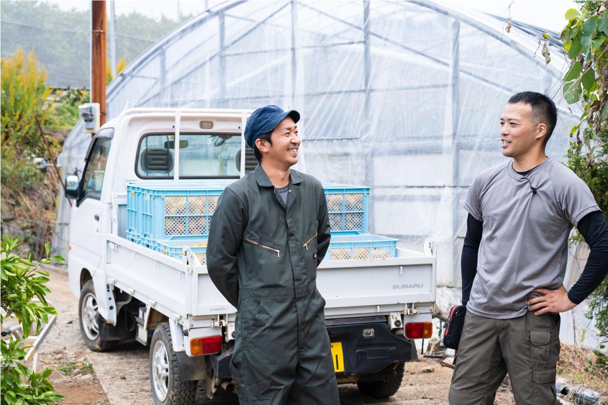 西海みかん農家の古川さんと田中さん