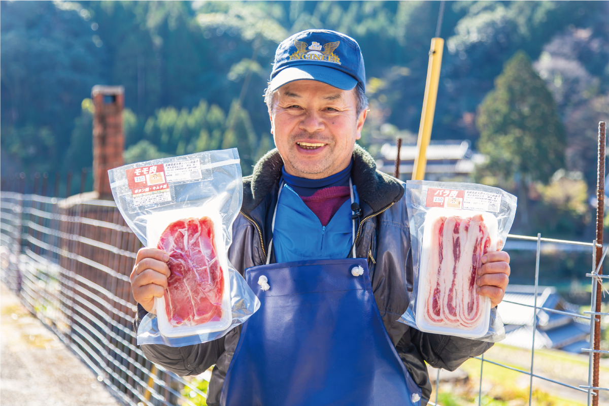 イノシシ肉加工所の照本茂法さん